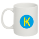 Кружка белая с логотипом Карбо