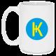 Кружка белая большая с логотипом Карбо